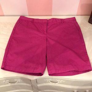 Pink Bermuda J Crew Shorts